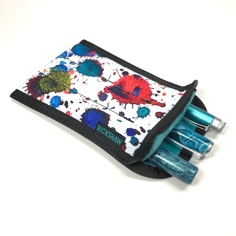 3-Pen Plush Coozy Ink Splatter
