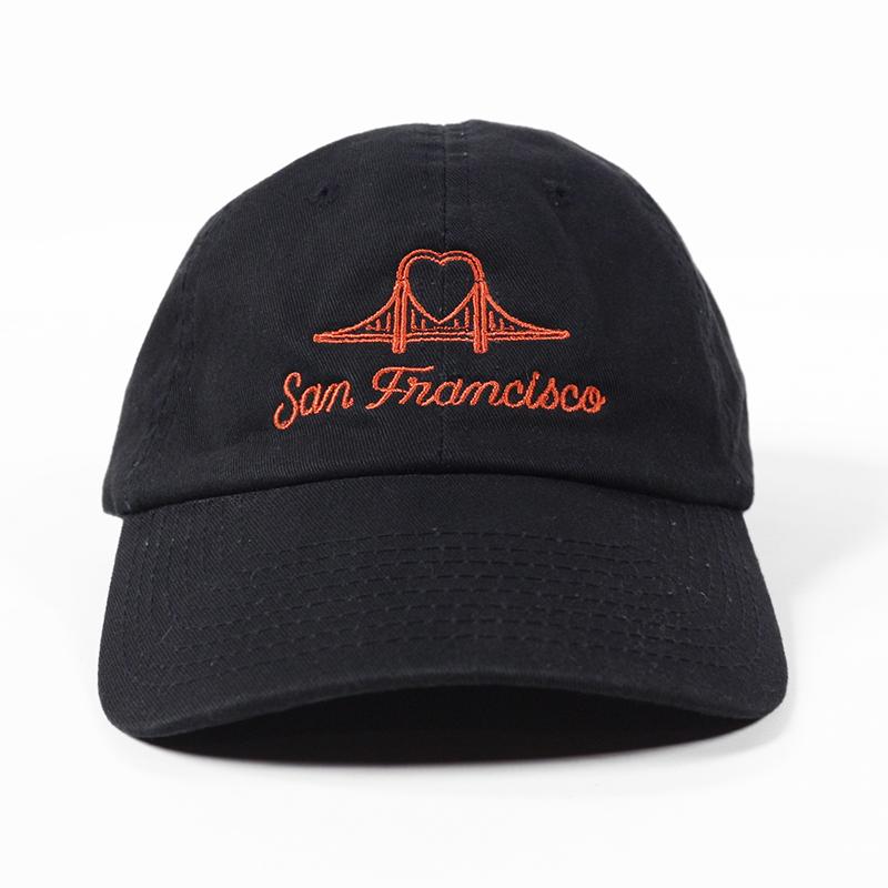SF Heart Bridge Cap | Orange