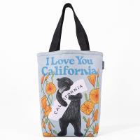 3Fish Studios: California Poppy Bear Grocery Tote