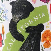 3Fish Studios: California Botany Bear Mini Tote