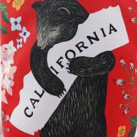 3Fish Studios: California Red Bear Mini Tote