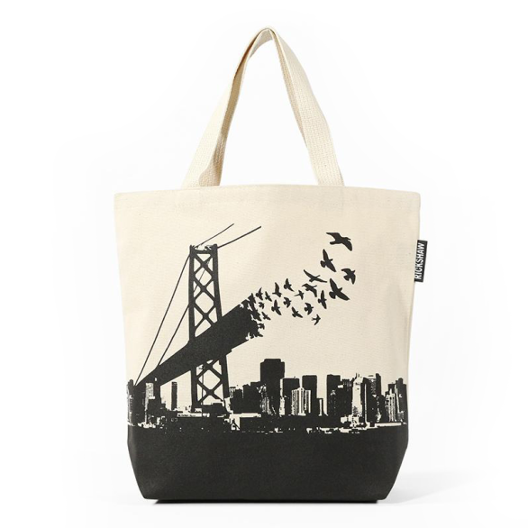 Bay Bridge Birds Mini Tote
