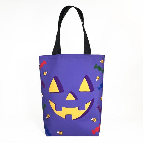 Grocery Tote - Halloween Purple Pumpkin