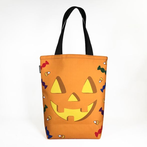 Grocery Tote - Halloween Orange Pumpkin