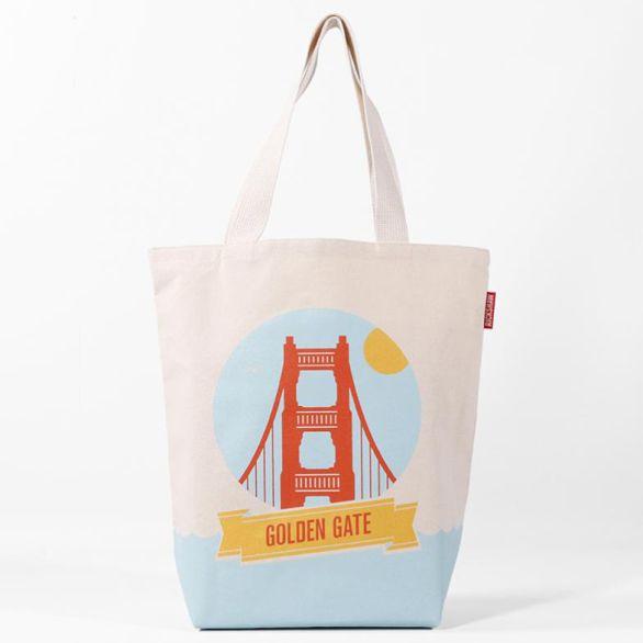 Golden Gate Landmark Grocery Tote