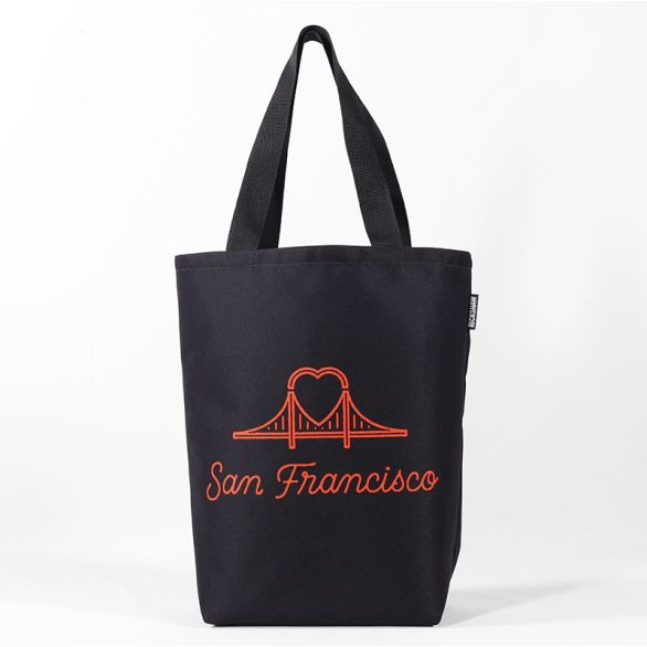 DigiPrint SF Heart Bridge Grocery Tote