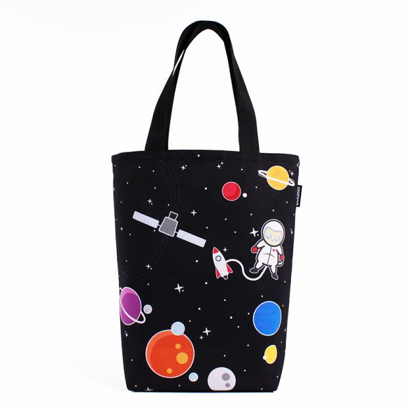 Space Cat Grocery Tote