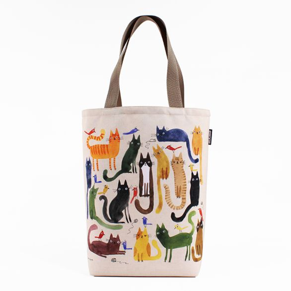 Cat Birds Grocery Tote