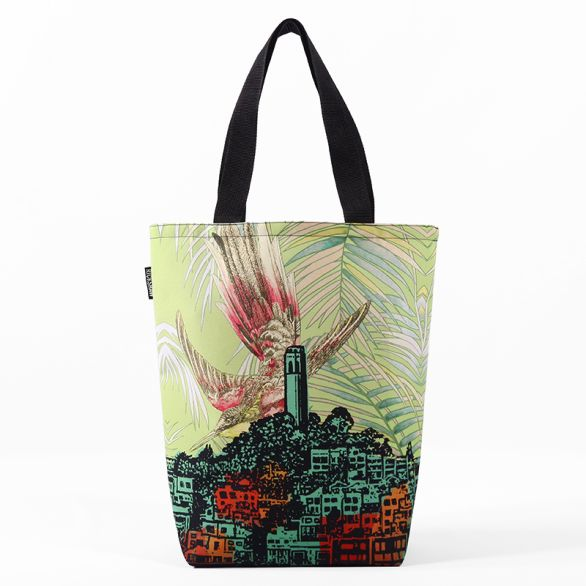 Jennifer Clifford: Coit Tower Bird Grocery Tote