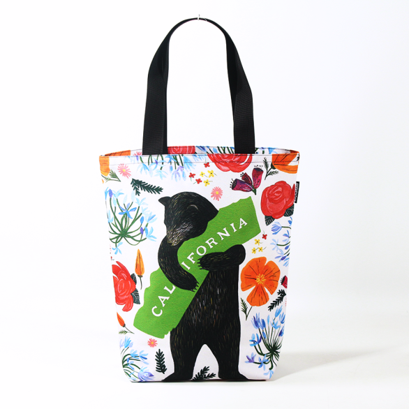 3Fish Studios: California Botany Bear Grocery Tote