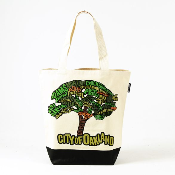 Oakland Tree Map Grocery Tote