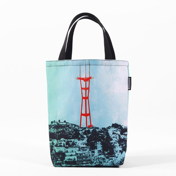 Jennifer Clifford: Sutro Tower Turquoise Mini Tote