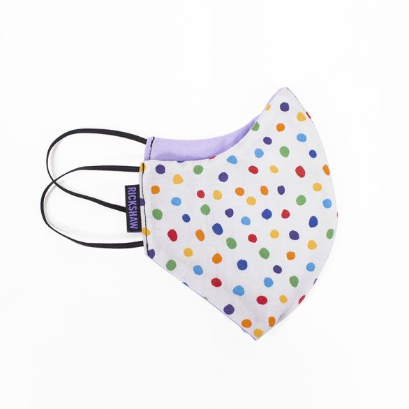 Face Mask - Dots White