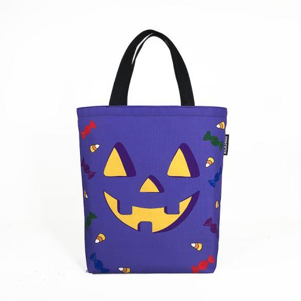 Mini Tote - Halloween Purple Pumpkin