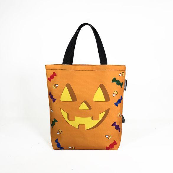 Mini Tote - Halloween Orange Pumpkin