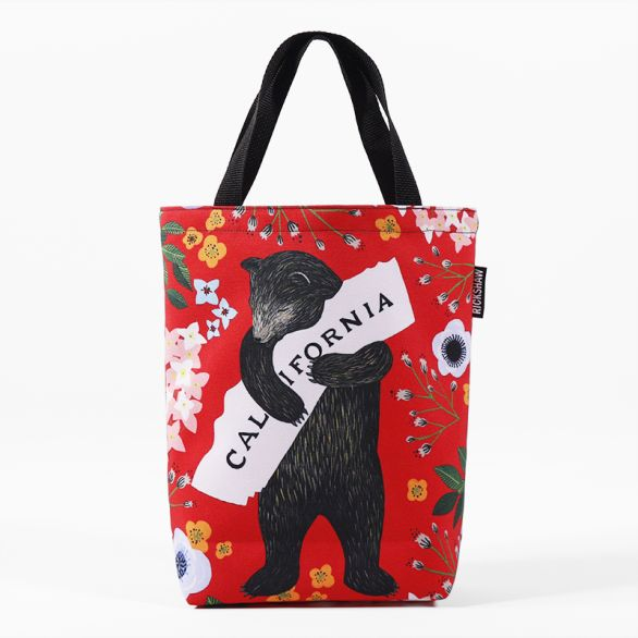 3Fish Studios: California Red Bear Mini Tote
