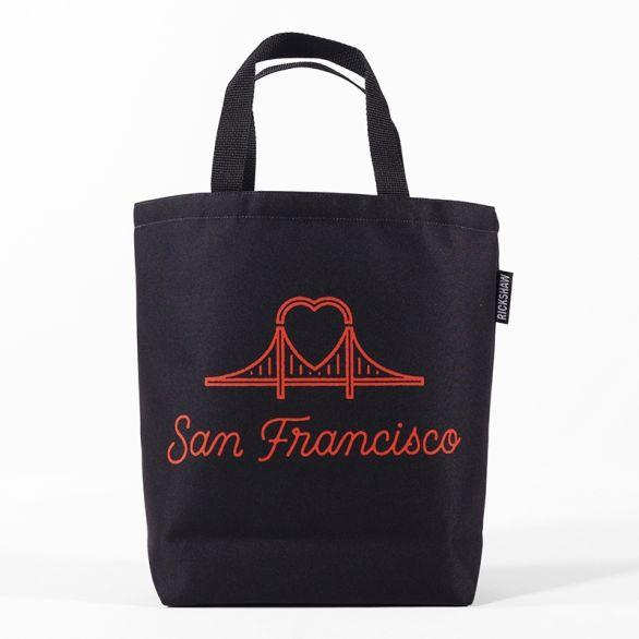 DigiPrint SF Heart Bridge Mini Tote