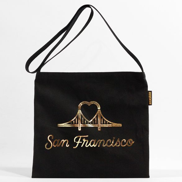 Canvas SF Heart Bridge Musette Gold