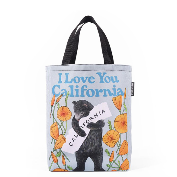 3Fish Studios: California Poppy Bear Mini Tote