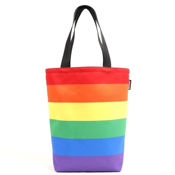 Pride Stripe Grocery Tote