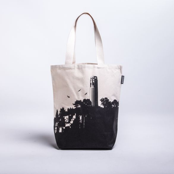 SF Coit Tower Grocery Tote