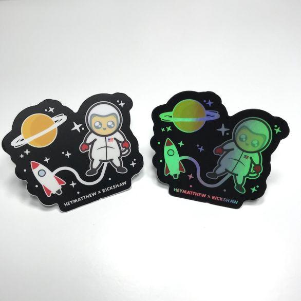 Space Cat Sticker Pack