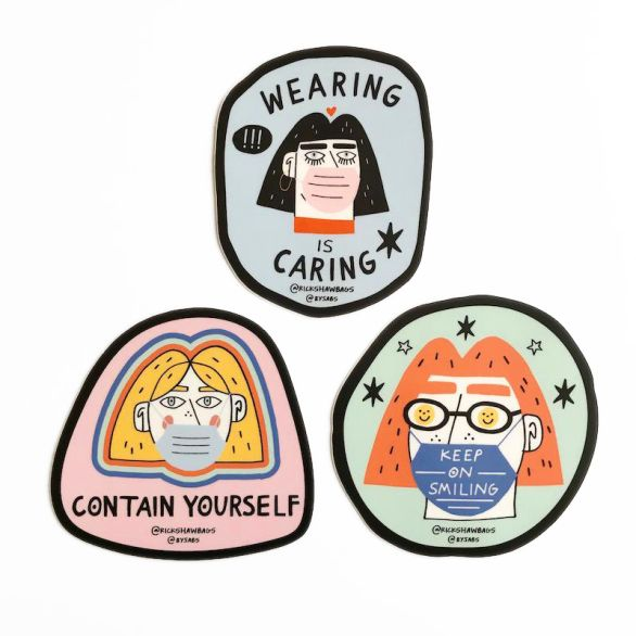 Sabrina Siegel Face Mask Sticker Pack