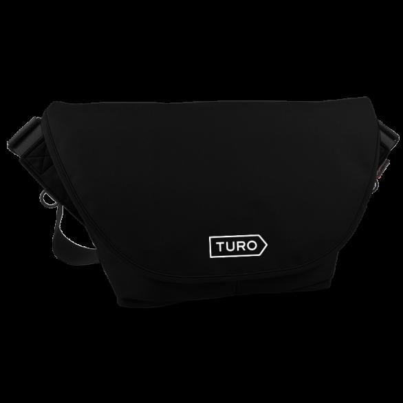 Black Turo Medium Zero Messenger