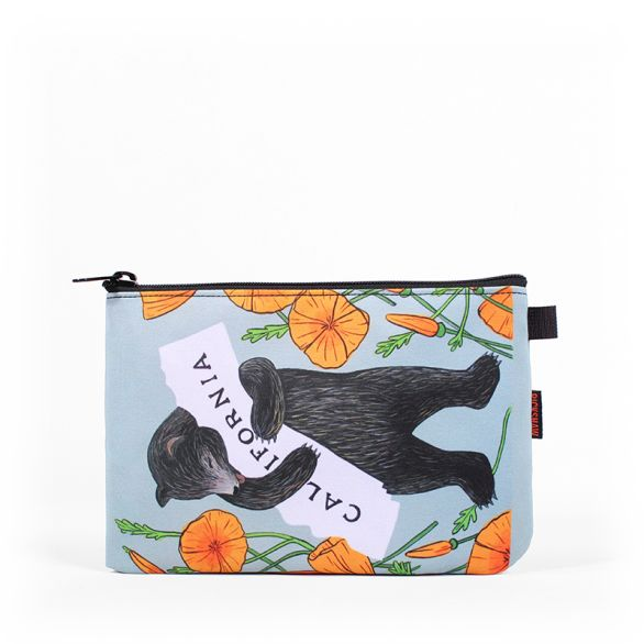 3Fish Studios: California Poppy Bear Utility Pouch