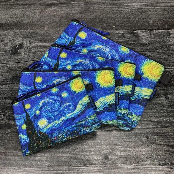 Starry Night Zipper Pouches