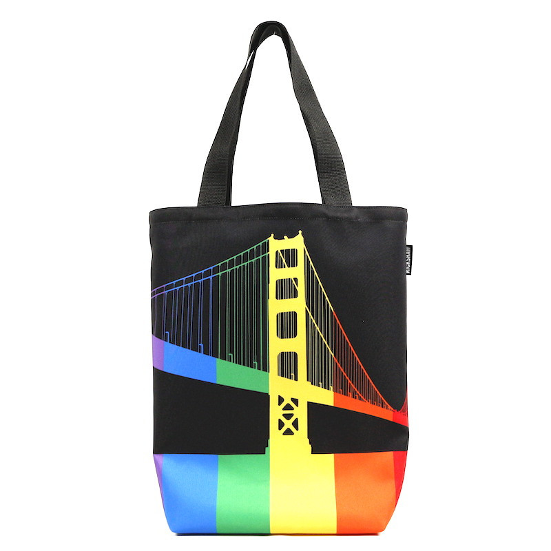 GGB Pride Stripes Grocery Tote