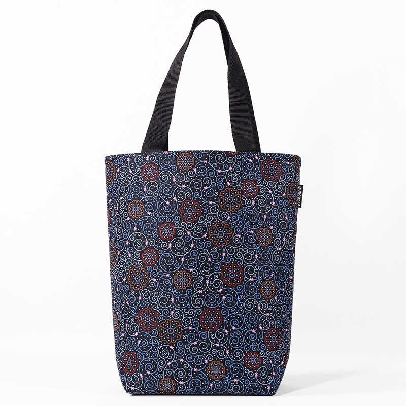 Festively Snowflakes Grocery Tote