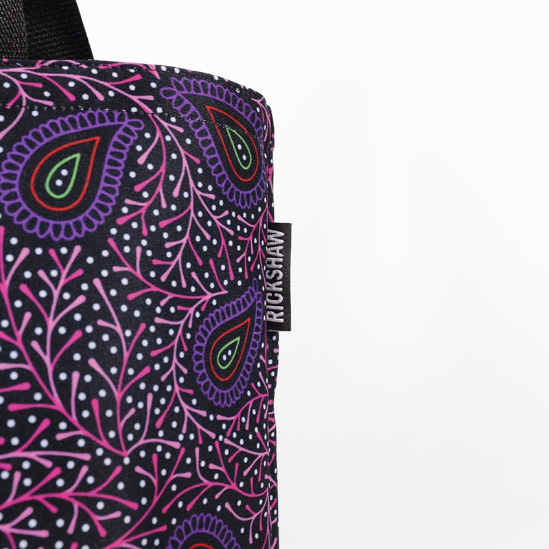 Festively Paisley Grocery Tote