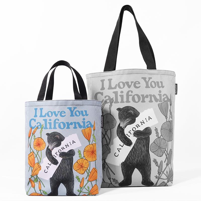3Fish Studios: California Poppy Bear Mini Tote