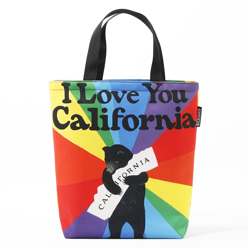 3Fish Studios: California Pride Bear Mini Tote