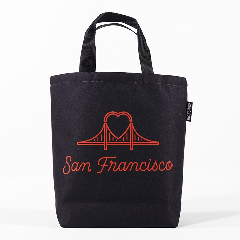 DigiPrint SF Heart Bridge Mini Tote