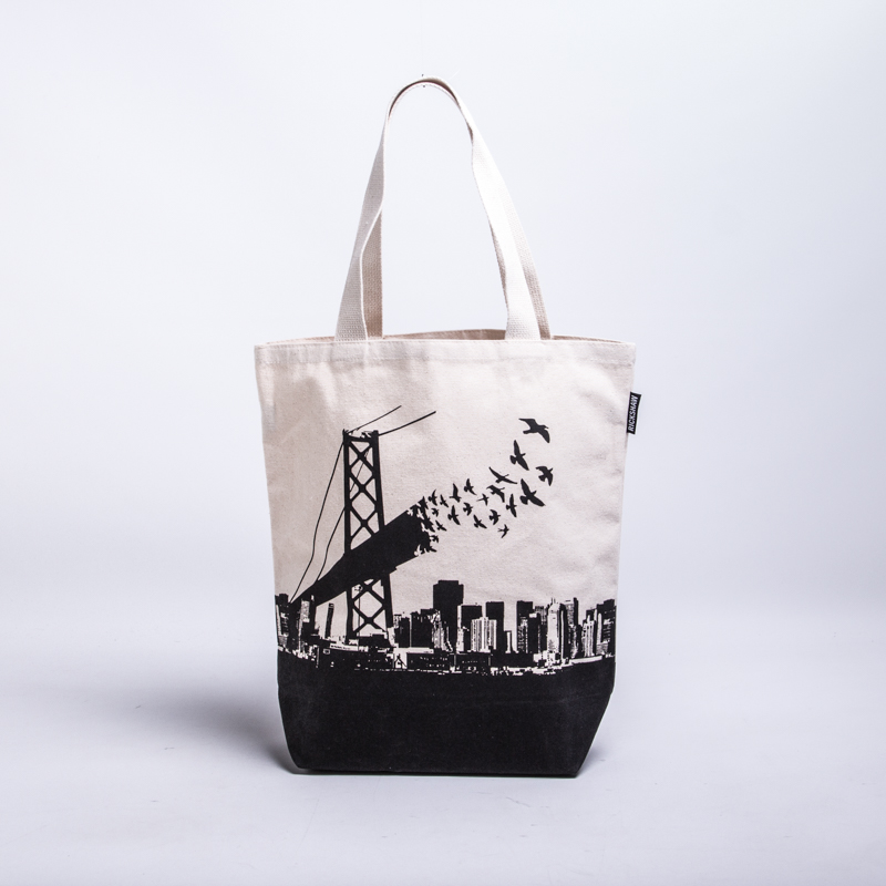 Bay Bridge Birds Grocery Tote