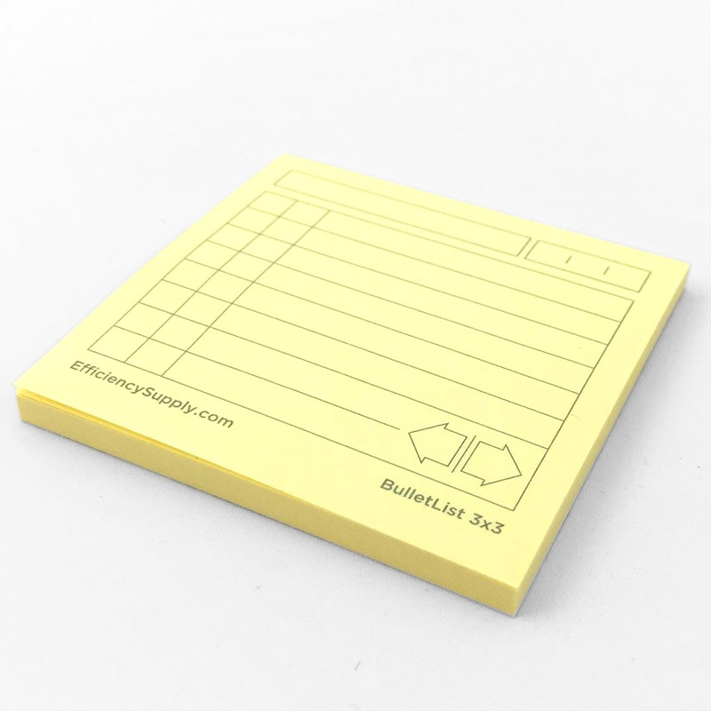 BulletList Post-it® Notes 3x3