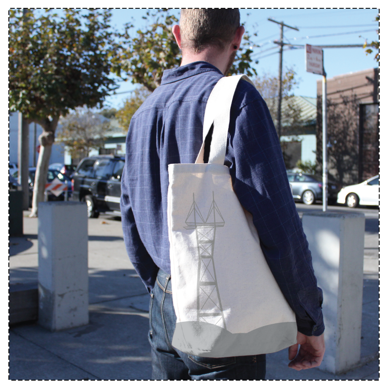 Sutro Tower Grocery Tote